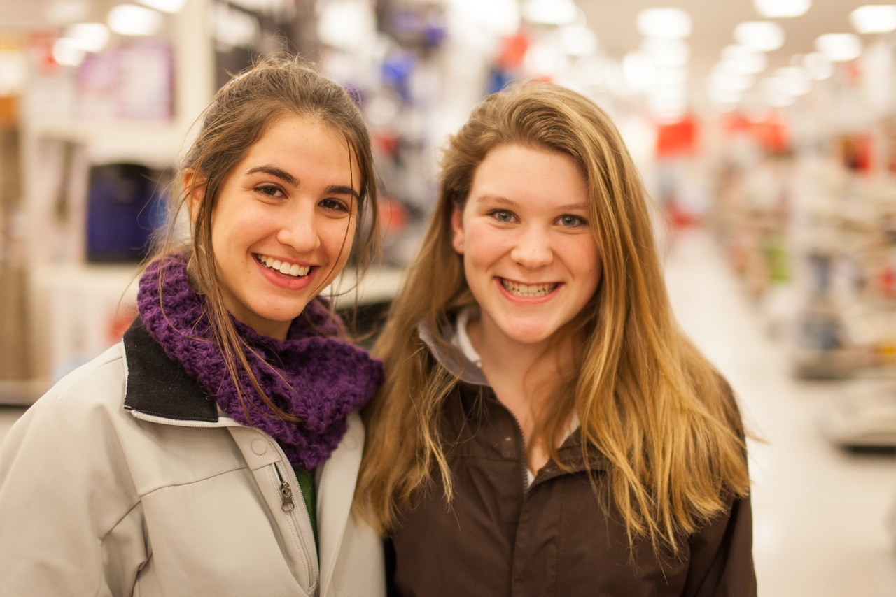 Ellie and Libby Shopping in Keene