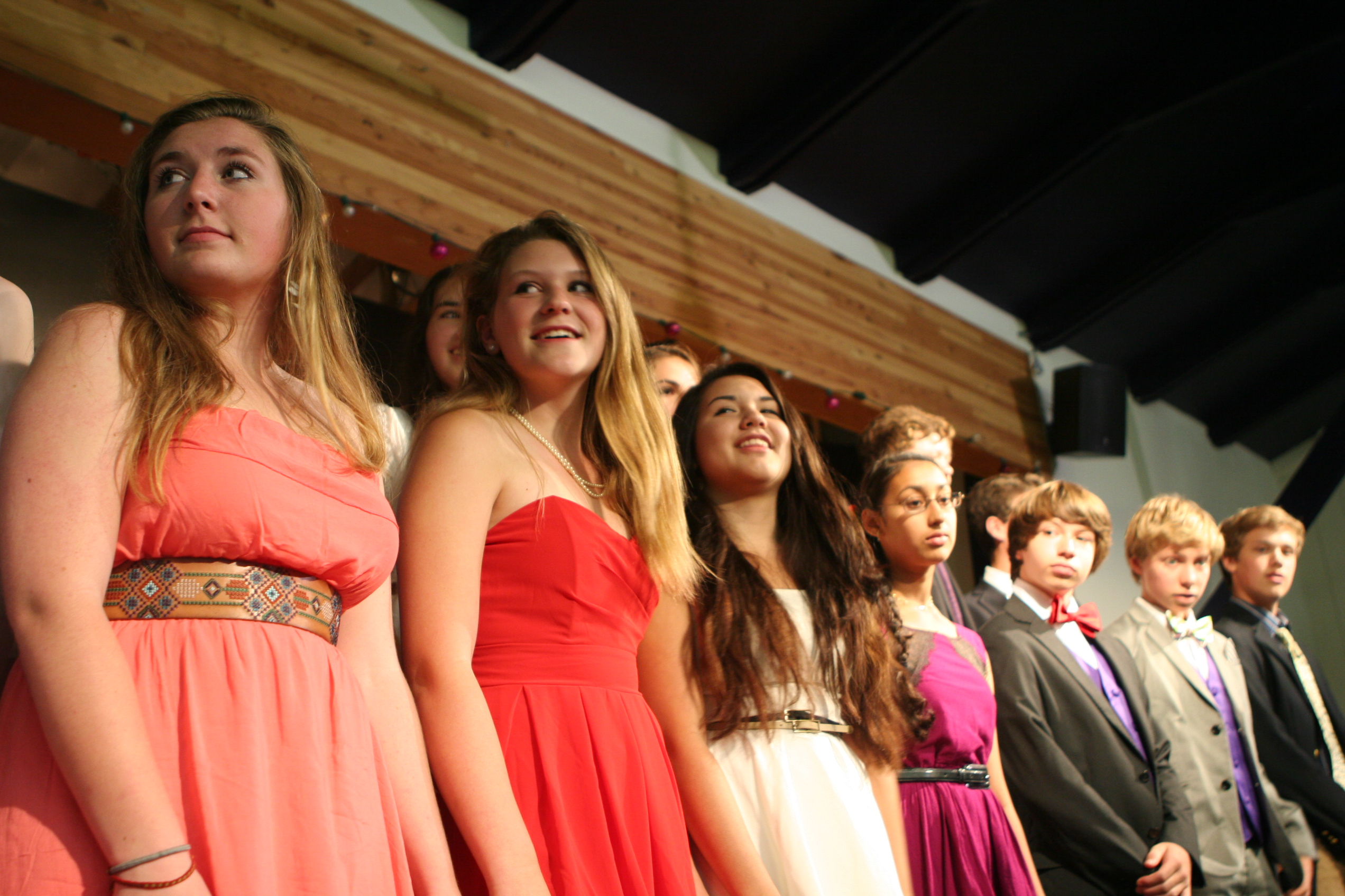Katy, Ellinore, Allegra, Ashna, Russeland the 8th grade class of 2013 singing