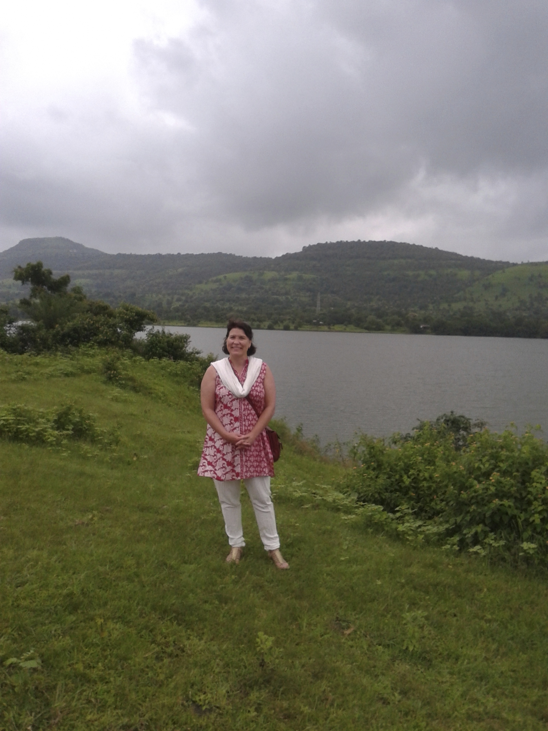 Rebecca in late summer, monsoon-green, Pune, India